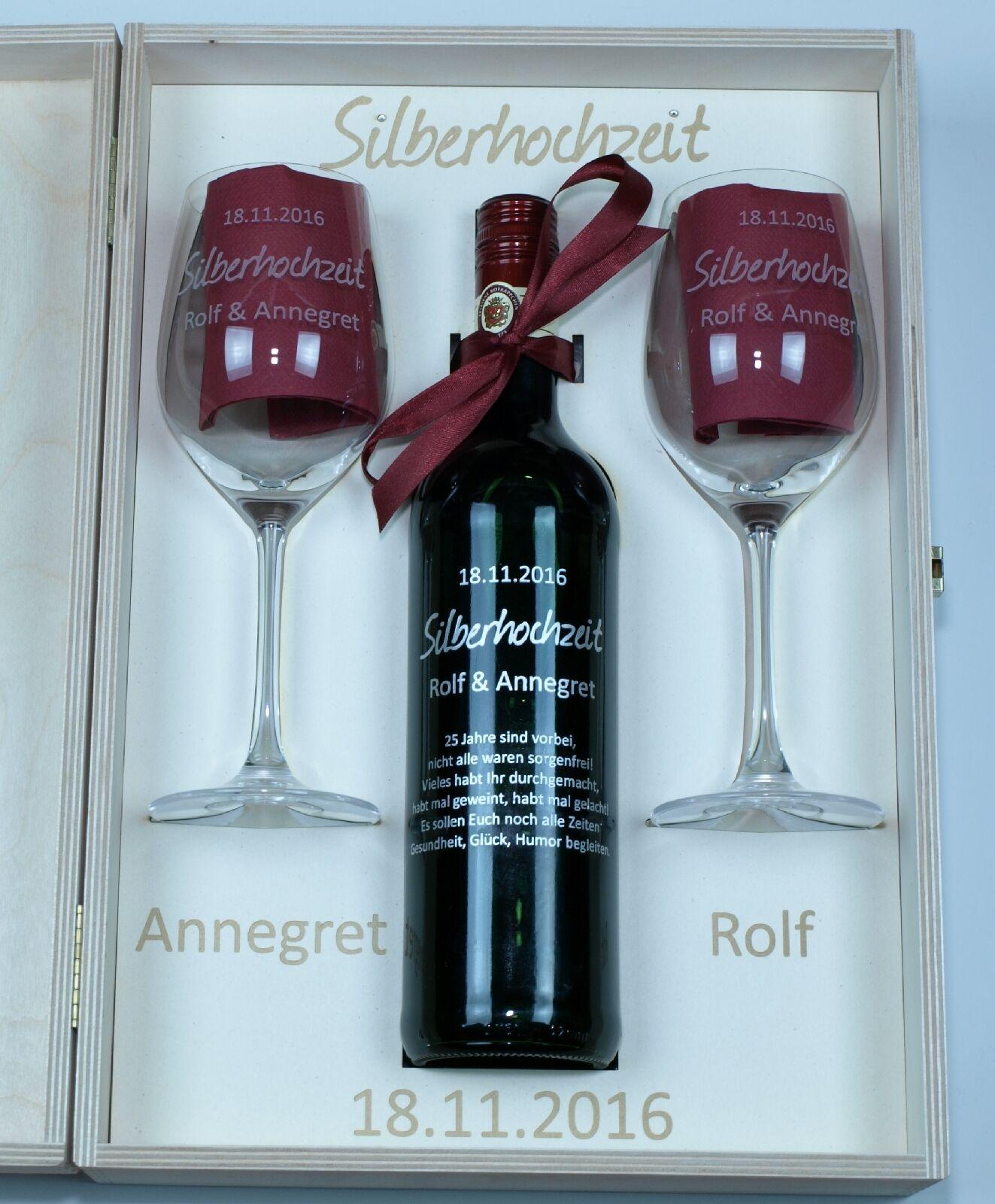 Rotweinset Strass Vino Grande Flasche Gläser Holzkiste individuelle Gravuren Gravuren Gravuren | Elegantes und robustes Menü  d958cb