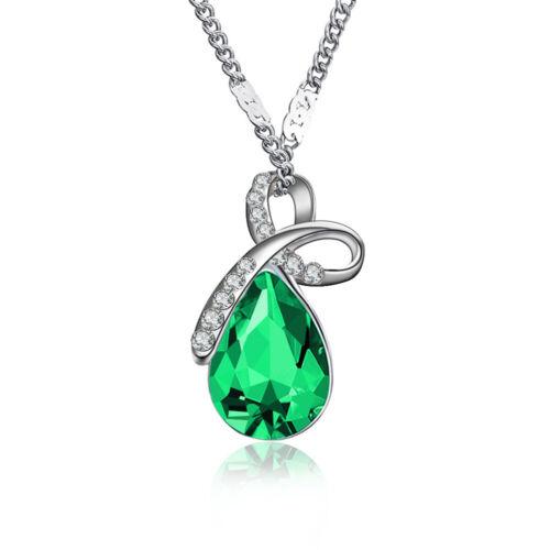 pour femmes Collier Viniforme Le collier de Rhin Cristal Gouttelette Zirconium
