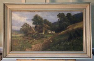 Arthur-Bell-1876-1966-Dusseldorf-Oil-Painting-Farm-1907