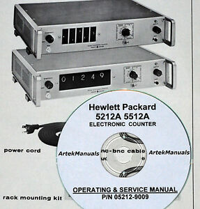 Details about Hewlett Packard Operating & Service Manual for 5212A & 5512A  Electronic Counter