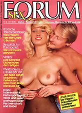 """Rarität Zeitschrift """"FORUM Sex - das neue Magazin für Sie und Ihn"""" Nr. von 1983"""