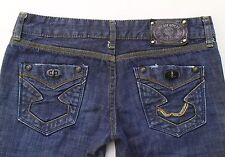 WE ARE REPLAY Women's Dark Wash Distressed Denim Jeans Size 27