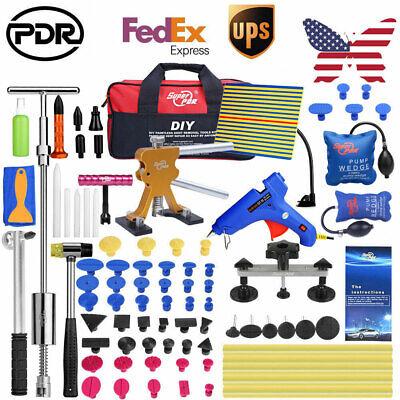 UK 43pcs PDR Tools Car Body Dent Lifter Puller Bridge Paintless Hail Removal Kit
