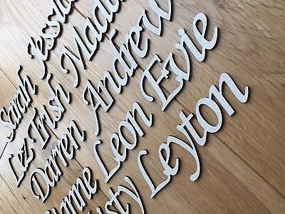 Personalised Script names, letters or words.Wooden 3mm thick High Quality Birch