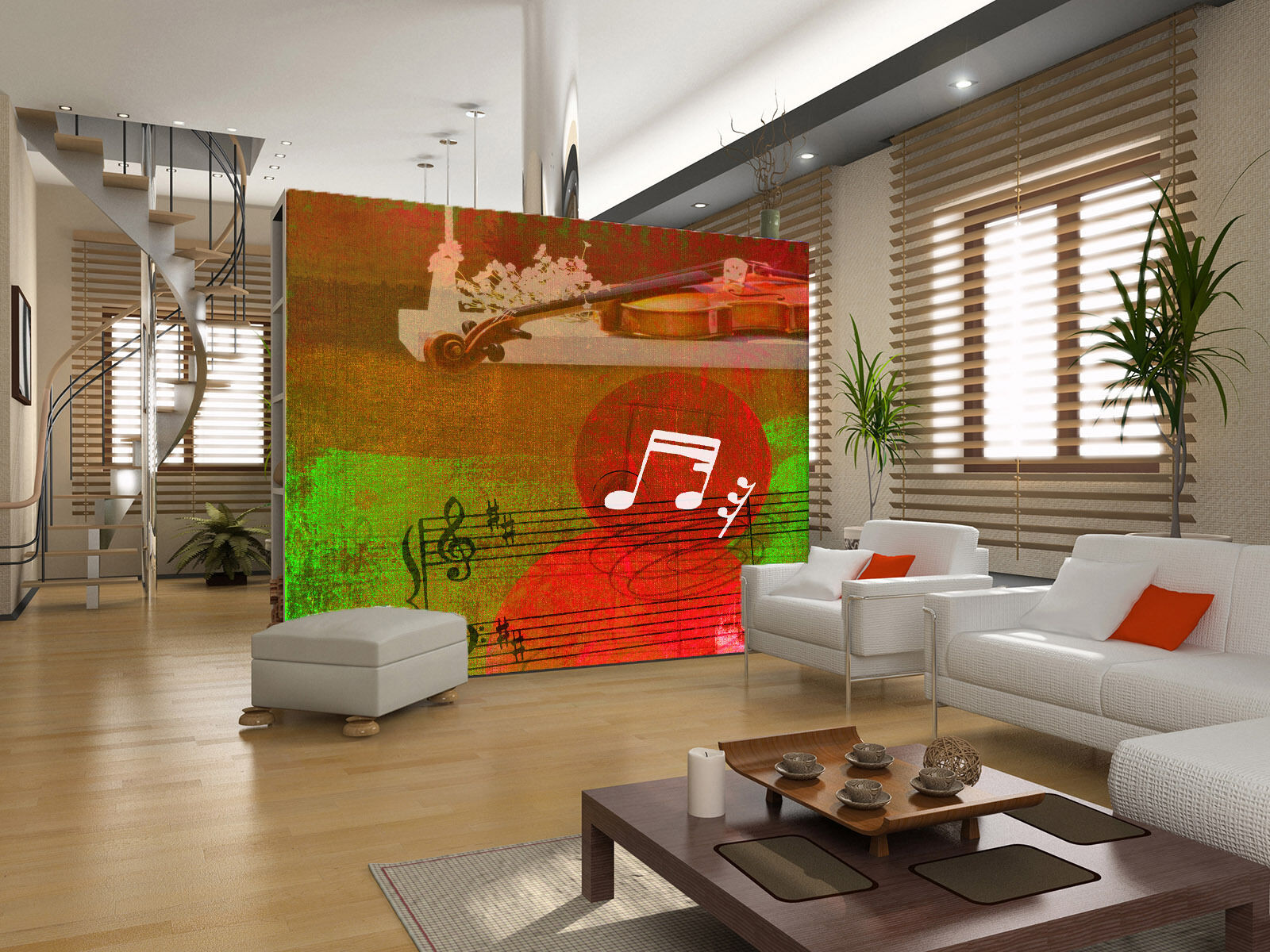 3D rot Music Paper Wall Print Wall Decal Wall Deco Indoor Murals
