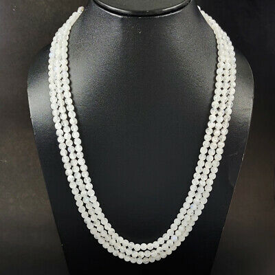 Gem Stone Necklaces Jewellery. ON SALE AAA Natural White Rainbow Moonstone 5 to 6 mm Plain Tyre Beads Moonstone plain loose Beads strand