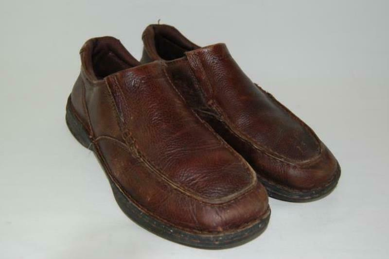 Columbia Leather Comfort Shoes Rocky Pine Men's Size 9.5 Slip On Rubber Sole