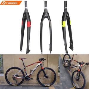 Toseek-Carbon-MTB-Bike-Rigid-Forks-Disc-Brake-1-1-8-034-Cycling-Fork-26-27-5-29-034