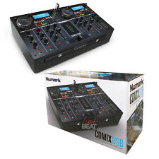 Numark CDMixUSB Dual CD Media Player 2-Deck Mixer DJ Controller 676762824217 NEW