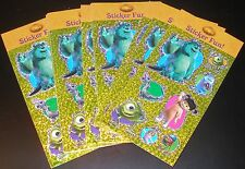 NEW DISNEY MONSTER INC. STICKER SHEET LOT MONSTER INC SCRAPBOOK STICKER LOT 12
