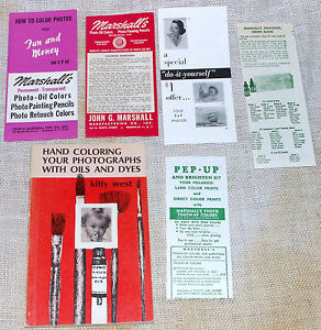 Hand Coloring Your Photographs with Oils and Dyes Kitty West 1969 Marshalls