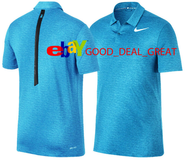 f514ea64 Nike Tiger Woods Dry Blur Dri Fit Golf Polo Shirt Red Size M 854209 ...