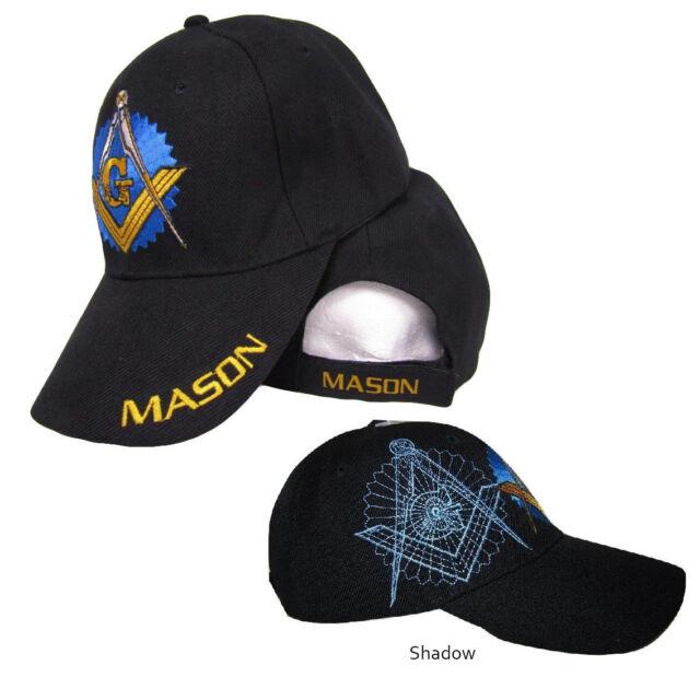 4f8fc10da5 Black Mason Freemason Mason Lodge Blue Shadow Premium Quality Hat Ball Cap