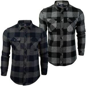 Para-Hombre-Franela-compruebe-Camisa-por-Pato-Y-Cubierta-039-Chapman-039