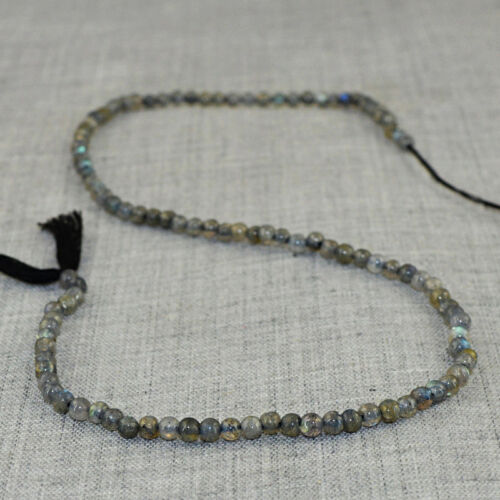 13 Inches Earth Mined Untreated Drilled Labradorite Beads Strand 28.00 Cts