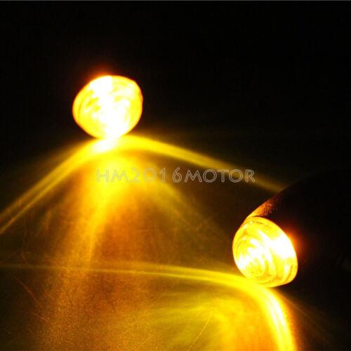 4X Amber Bullet Turn Signal Lights For Yamaha VStar 650 XVS650 Custom Classic
