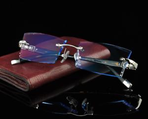 ae5ffe447a Image is loading Luxury-Eyeglass-Frames-Rimless-Eyewear -Trimming-Cutting-lens-