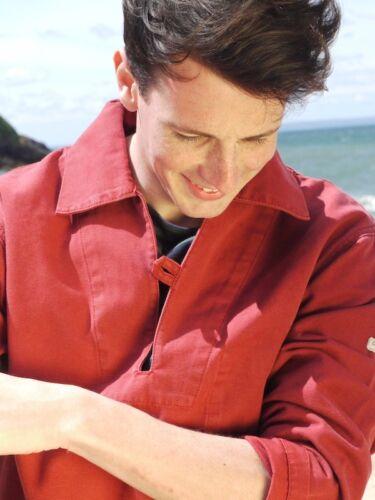 Red 100/% Cotton Breton Fisherman/'s Smock Nemo ii Vareuse by Saint James