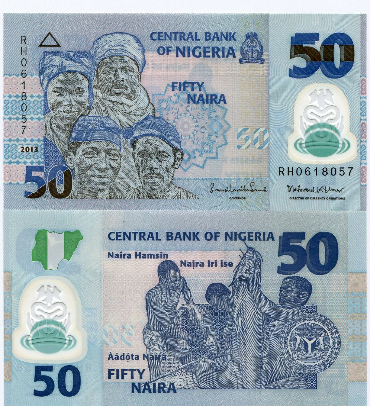 Nigeria Unc 50 Naira Polymer Money