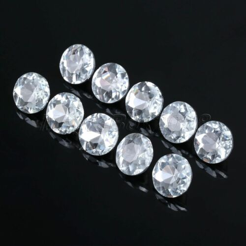 10Pcs Crystal Upholstery Buttons Metal Glass 14mm-22mm Headboard Furniture Decor
