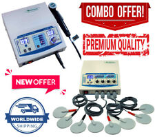 New Combo 4 Channel Physical Therapy Unit Ultrasound 1mhz Therapy Machine By Dhl