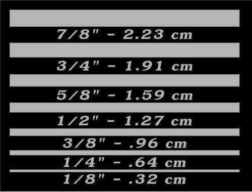 "VINYL GRAPHICS DECAL PINSTRIPING 1//8/""-7//8/"" x 80/""-100/"" CAR TRUCK VAN SUV PB-PS"
