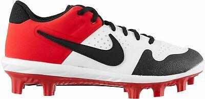 Nike Men's Alpha Huarache Varsity Baseball Cleats AO7959-106 White/Red |  eBay