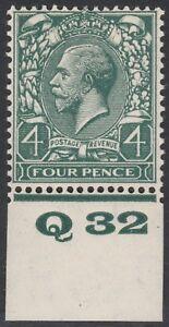 1924-BLOCK-CYPHER-SG424-4d-GREY-GREEN-CONTROL-Q32-MINT-HINGED