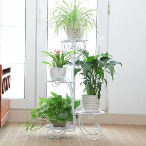 DAZONE-Metal-Outdoor-Indoor-Plant-Stand-Garden-Decor-Flower-Rack-Wrought-Iron