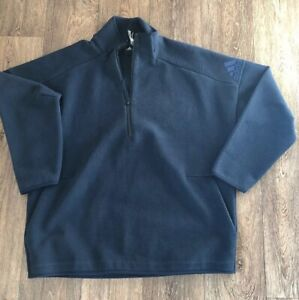 Adidas-Size-Large-Men-s-Blue-sweatshirt-half-zip-Active-Wear-Top