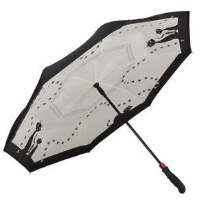 Herren-accessoires Damen-accessoires Herzhaft Regenschirm Automatik Motiv Inverted Stockschirm Stabil Schwarze Katzen 5685fl