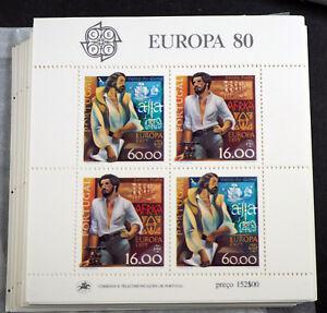 "Portugal 1980, Block ""Europa; Bedeutende Persönlichkeiten"" per 100 (ME 700,-)"