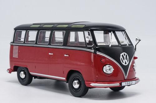 J Bus Samba 9 Sitze 25 Window Red Black 1:18 KK 1962 Volkswagen T1 VW A