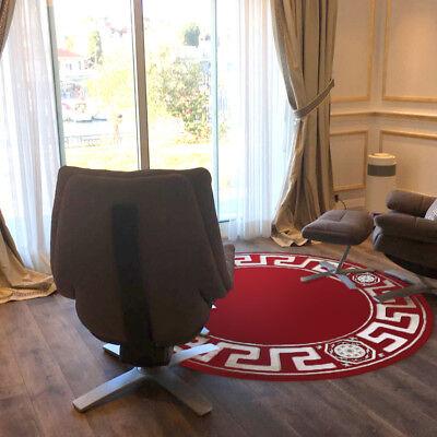 Teppich Rund Kunst Seide Mäander Medusa Möbel rot Carpet 200 cm ∅ versac