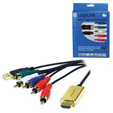 HDMI SIGNALWANDLER KONVERTER AUF 5x RCA / CINCH ANALOG KOMPONENTEN KABEL ADAPTER
