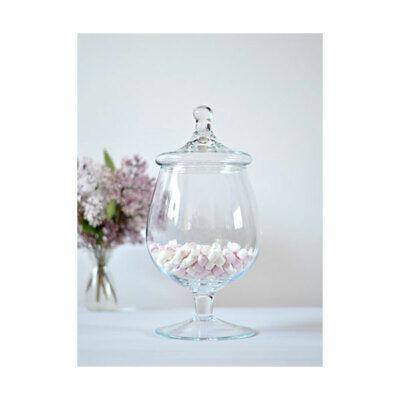 Footed bocal en verre Cookie Sweet Bonbon Jarre Bol Avec Couvercle 35 cm