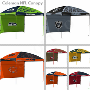 Coleman Nfl Team 10 X 10 Dome Canopy Tent With Wall