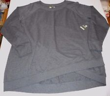 Women's Xersion Crossover Sweat Shirt Charcoal Size 1X NEW W Tags $40