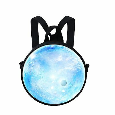 Fashion Planet Kid's Round Backpack Children Crossbody Bag Women Handbag Purse