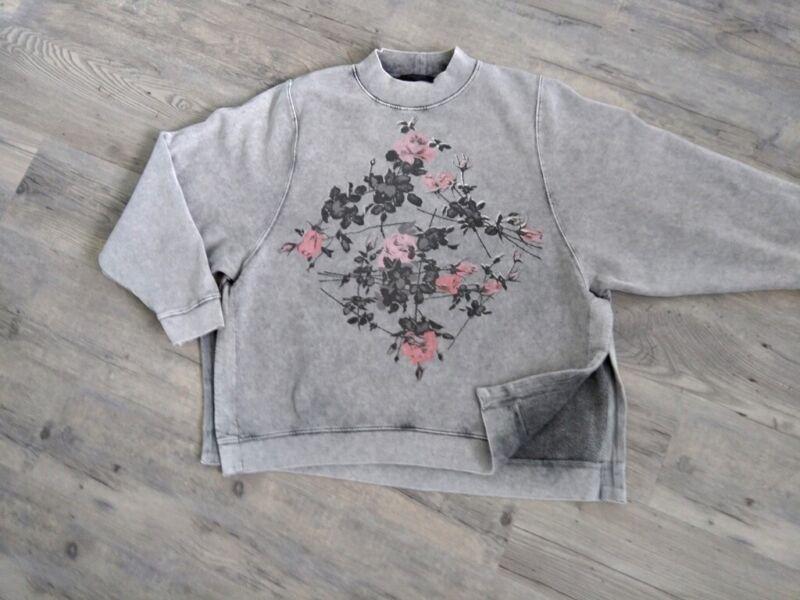 *allsaints*oversize*sweatshirt*gr.l*grau*print* Closed* Hochwertige Materialien