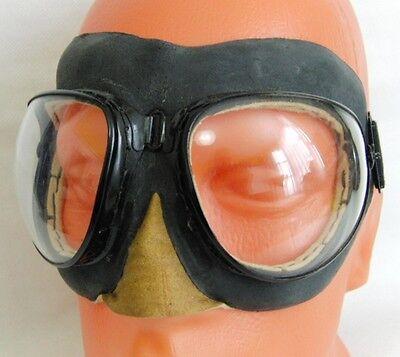 Soviet MiG Pilot Goggles PO-1M Russian Military Aviation Eyewear Vintage