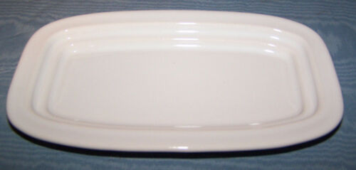 NEW FIESTAWARE BUTTER DISH BOTTOM BASE PLATE WHITE SMALL FIESTA RETIRED