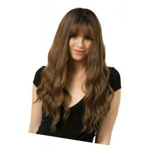 24-034-Women-Bangs-Long-Light-Brown-Wavy-Curly-Hair-Cosplay-Party-Full-Wig-Wigs