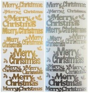 Gold Peel Offs Happy Christmas//Season/'s Greetings