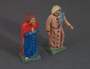 Grulicher-Krippenfigur-Maria-und-Josef-Holz-geschnitzt-gt-7-cm-lt-11173
