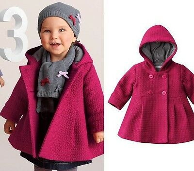 New baby girl Hooded jacket coat outwear size6M-24M