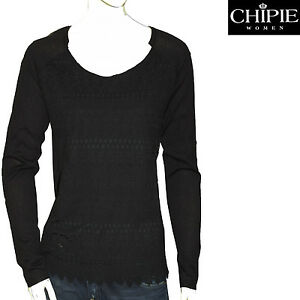 Image is loading Chipie-black-sweater-woman c918a161b583