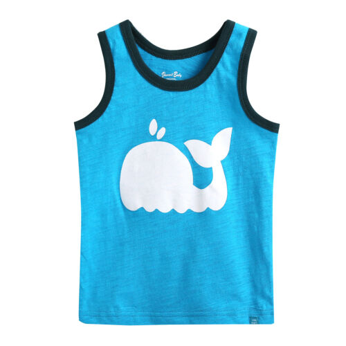 "Vaenait Baby Kids Boy Clothes Sleeveless Pajama Outfit Set /""Dolphin blue/"" 12M-7T"
