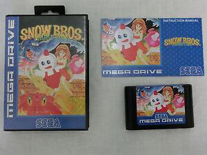 Snow-Bros-Sega-Mega-Drive-PAL-High-Quality-Repro-by-034-RGF-034-one-of-100