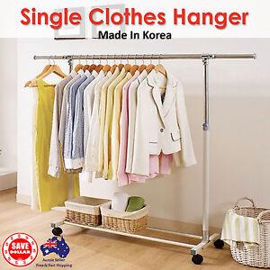 Portable-Stainless-Steel-Single-Clothes-Garment-Rack-Hanger-Organizer-Heavy-Duty